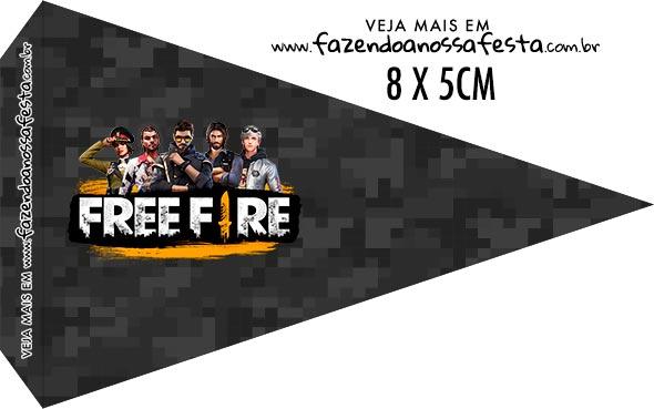 Bandeirinha para sanduiche Free Fire