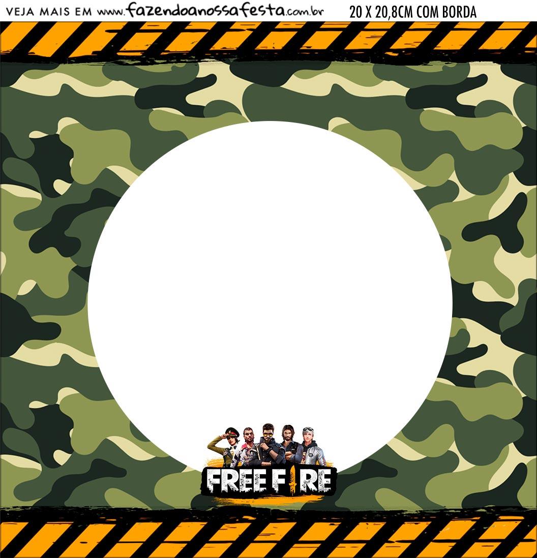 Bandeirola personalizada Free Fire