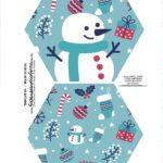 Caixa Explosiva Natal Boneco de Neve 1