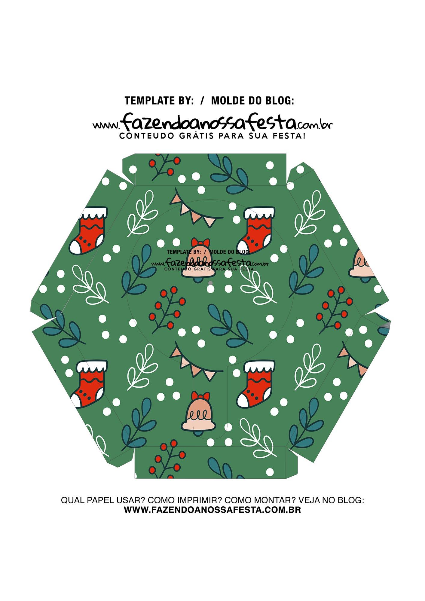 Caixa Explosiva Natal Verde 7
