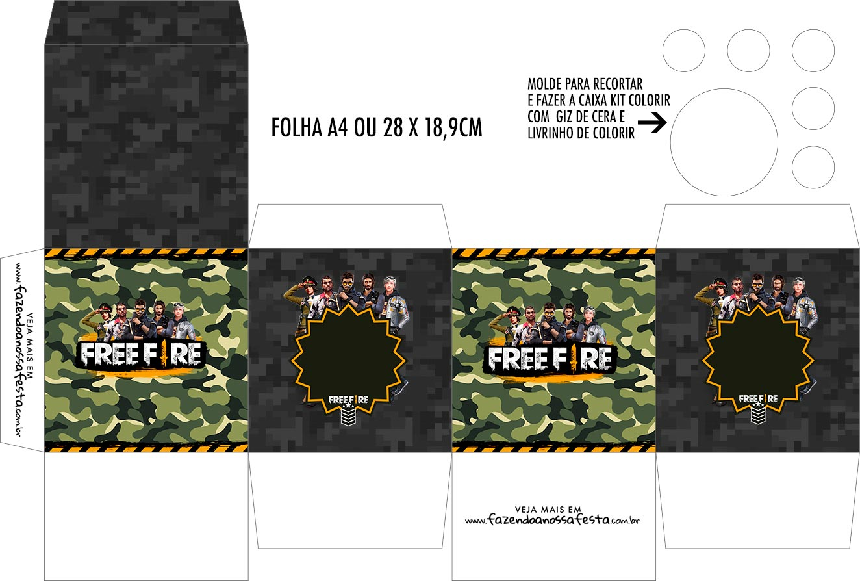 Caixa Kit Colorir Free Fire