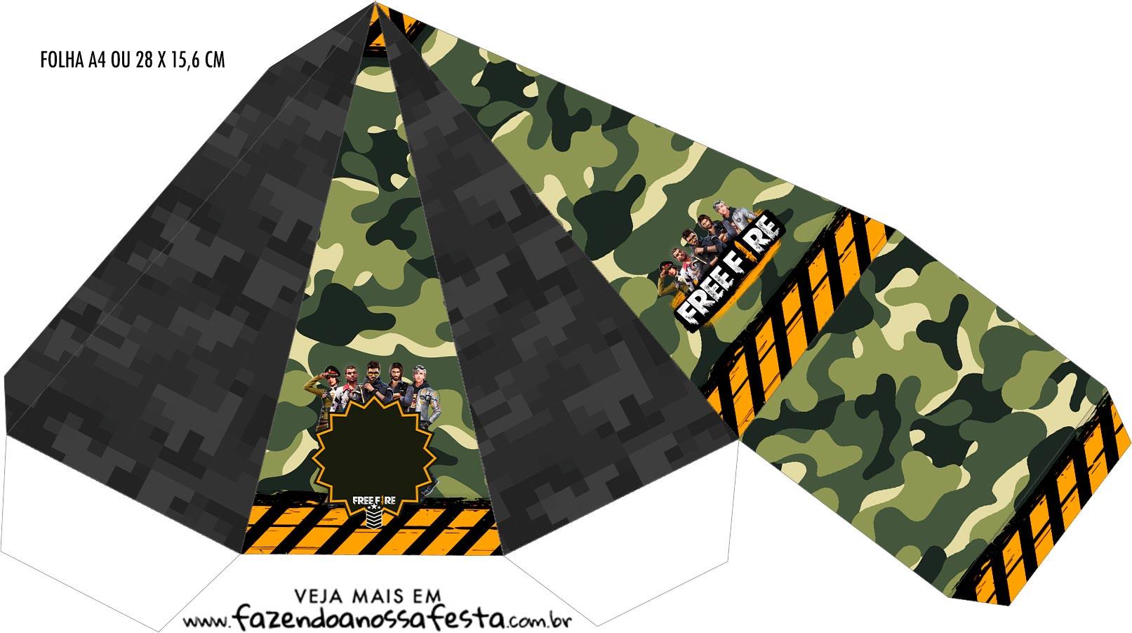 Caixa Piramide Free Fire