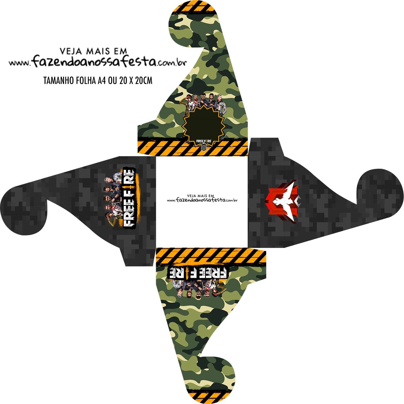Caixa bombom personalizada Free Fire