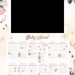 Calendario 2021 Personalizado com foto de Natal 6
