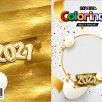 Capa Livrinho para Colorir Ano Novo 2021