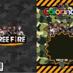 Capa Livrinho para Colorir Free Fire