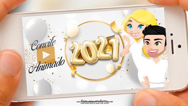 Convite Animado Ano Novo 2021