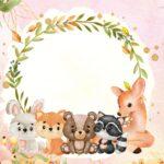 Convite Festa Bosque Encantado Menina 6