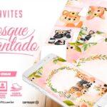 Convite Festa Bosque Encantado Menina gratis