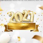Faixa Lateral de bolo Ano Novo 2021
