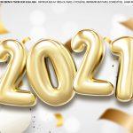 Faixa Lateral de bolo Ano Novo 2021 2