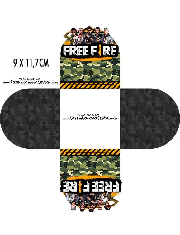 Forminha Brigadeiro 3d Free Fire