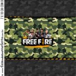 Kit Festa Free Fire Adesivo Bala Personalizada