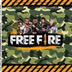 Kit Festa Free Fire Adesivo Caixa Acrilica
