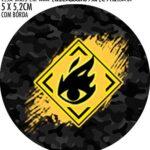 Kit Festa Free Fire Adesivo copo de acrilico
