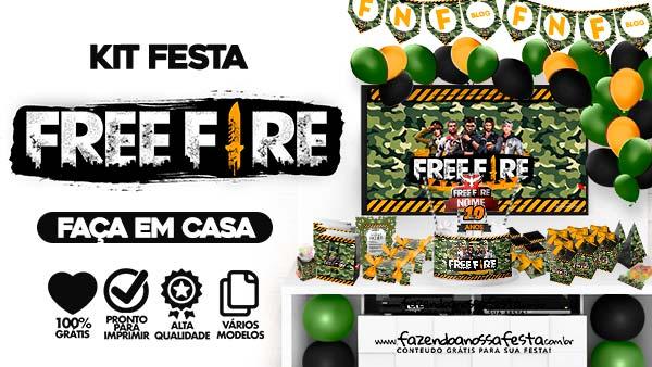 Kit Festa Free Fire gratis