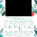 Lembrancinha Calendario 2021 com foto