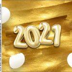 Adesivo redondo personalizado Kit Festa Ano Novo 2021