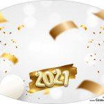 Placa Elipse Ano Novo 2021