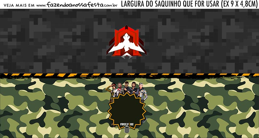 Rotulo Saquinho de Bala Free Fire