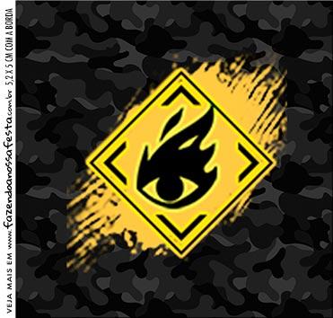 Rotulo para Caixa de Acrilico Free Fire