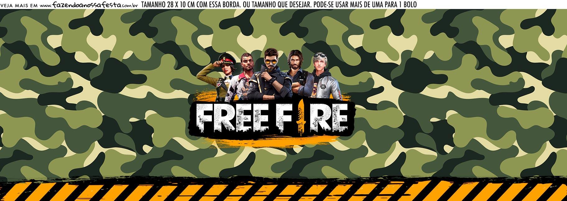 Saia Lateral de Bolo Free Fire