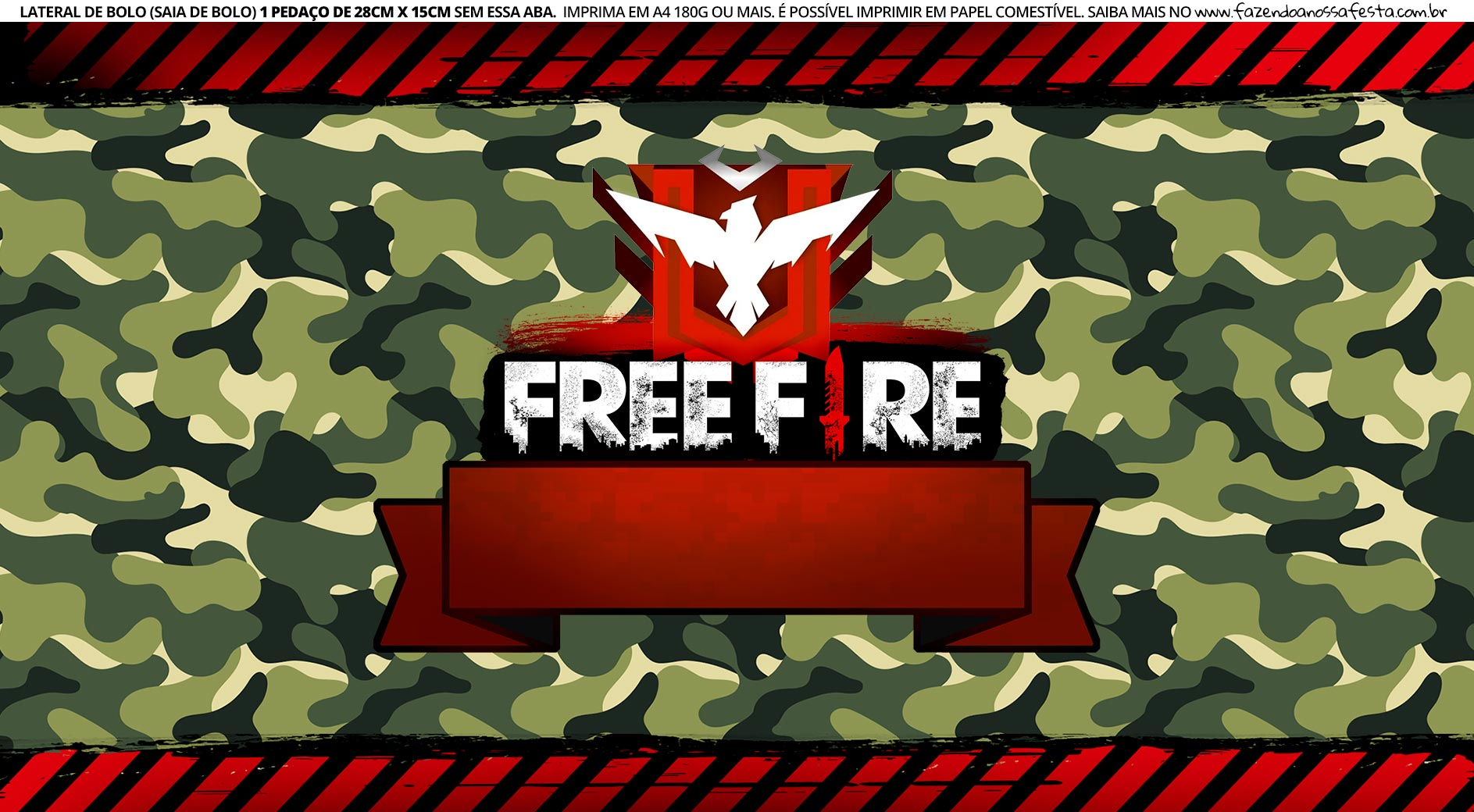 Saia de Bolo Free Fire 2