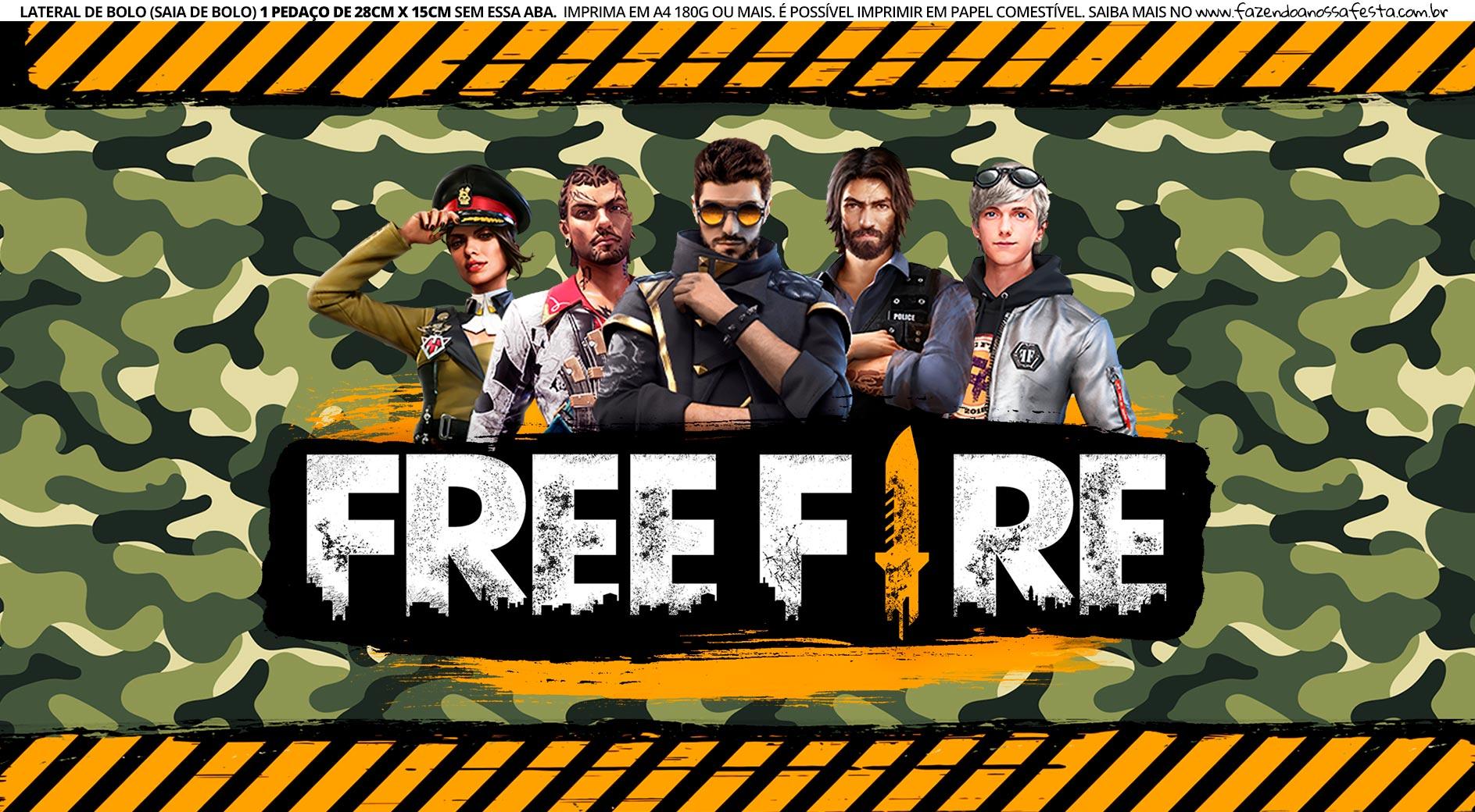 Saia de Bolo Free Fire 3