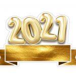 Topo de bolo Festa Ano Novo 2021