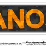 Topo de bolo Free Fire Banner Anos