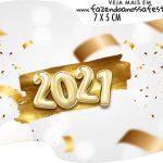 Topper Bandeirinha Ano Novo 2021