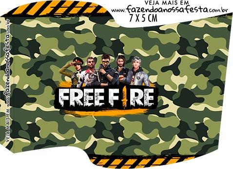 Topper Bandeirinha Free Fire