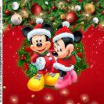 Adesivo Caixa Acrilica Natal Mickey e Minnie