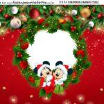 Adesivo Marmitinha Personalizada Natal Mickey e Minnie