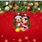 Adesivo Natal Mickey e Minnie