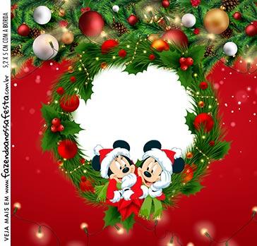 Adesivo Quadrado Natal Mickey e Minnie