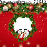 Adesivo para Cofrinho Natal Mickey e Minnie