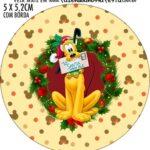 Adesivo para latinhas Natal Mickey e Minnie