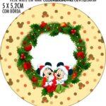 Adesivo para tubetes Natal Mickey e Minnie