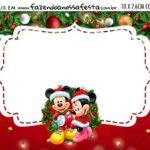 Aviso para Comida Natal Mickey e Minnie