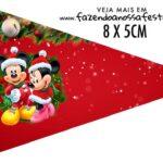 Bandeirinha Sanduiche para imprimir Natal Mickey e Minnie