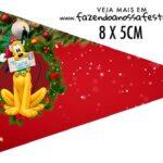 Bandeirinha Sanduiche personalizado Natal Mickey e Minnie