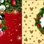 Bandeirinha de Dois Lados Natal Mickey e Minnie