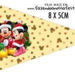 Bandeirinha para sanduiche Natal Mickey e Minnie