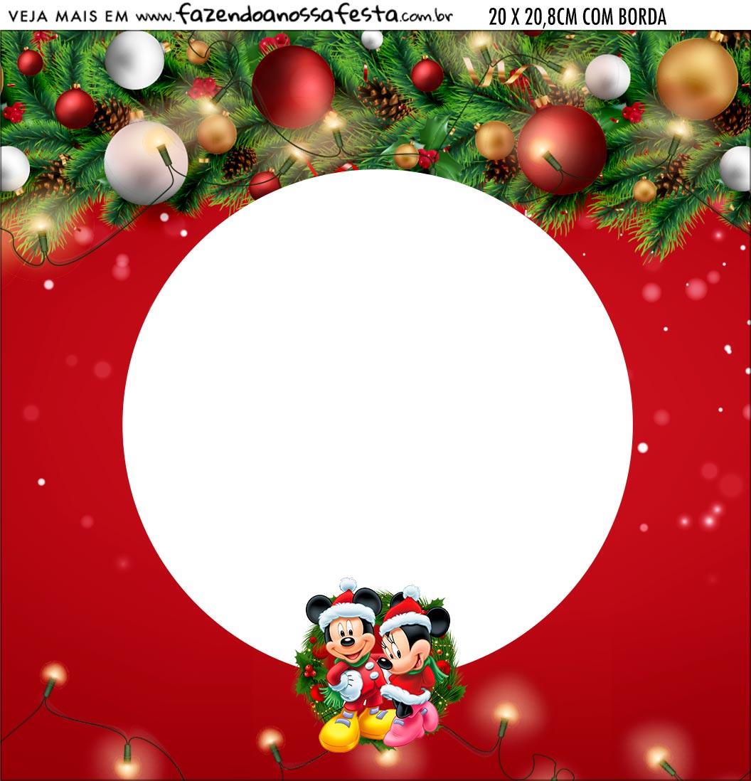 Bandeirola personalizada Natal Mickey e Minnie