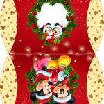Caixa Almofada bolsinha Natal Mickey e Minnie
