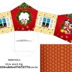Caixa Casinha Natal Mickey e Minnie
