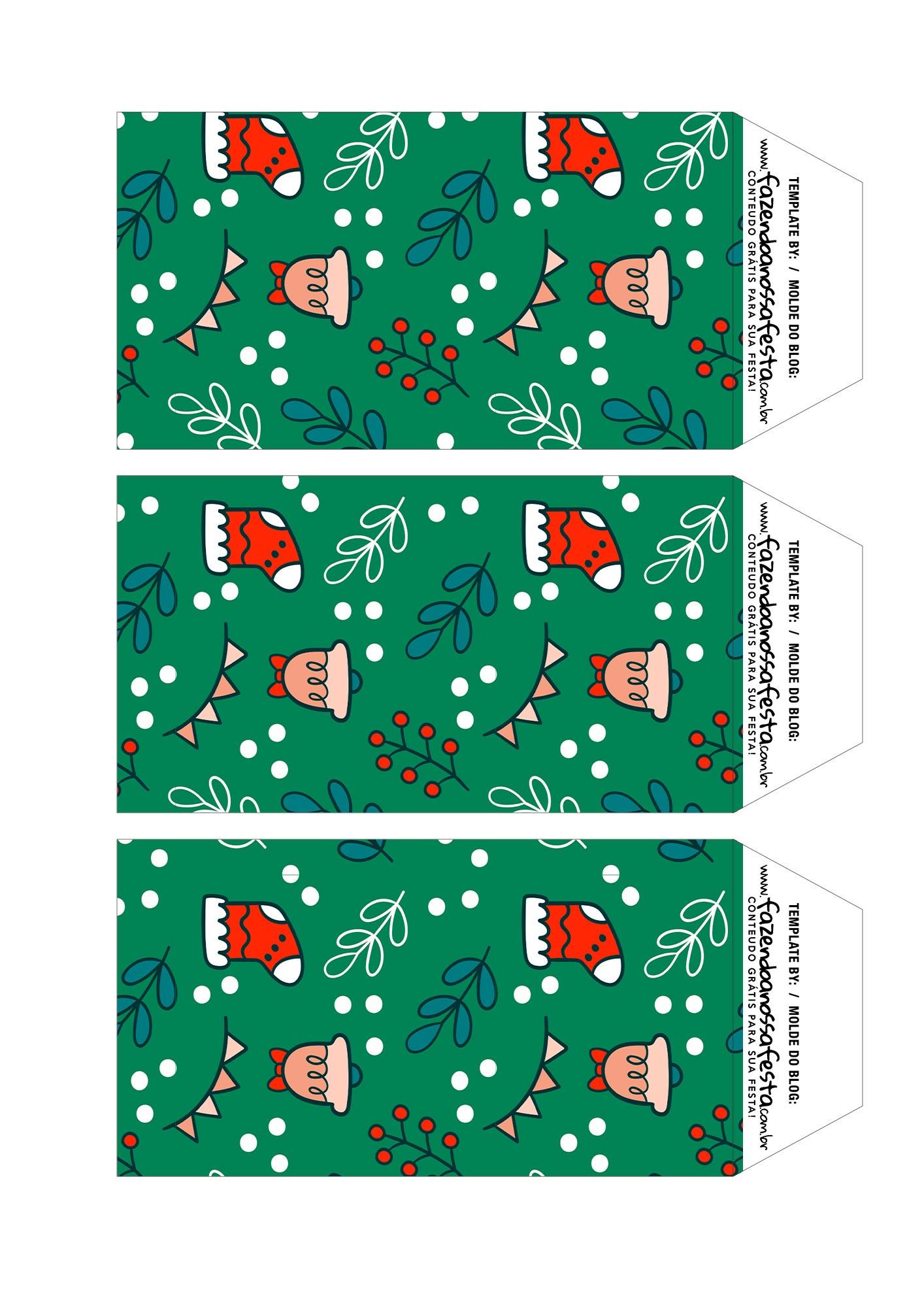Caixa Explosao Panetone Natal Abas da Base 2 Urso Verde