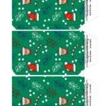 Caixa Explosao Panetone Natal Abas da Tampa Urso Verde