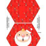 Caixa Explosao Panetone Natal Tampa e Base Noel